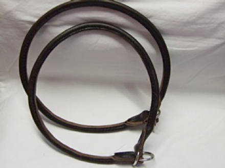 Hand Stitched Rolled  English Bridle Leather Slip Collar